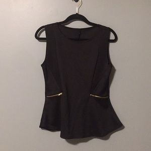 B Jewel peplum top size medium